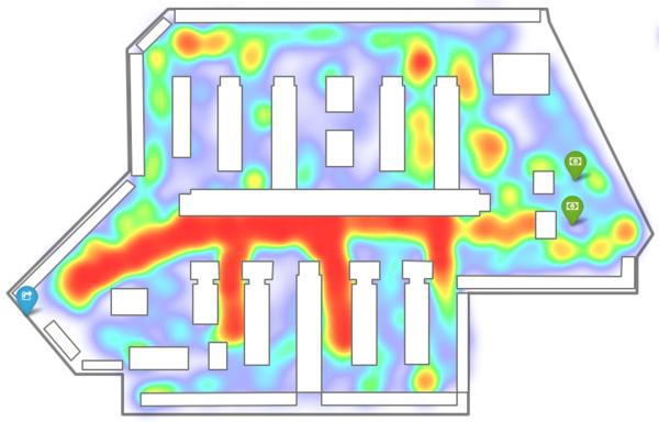 Tín hiệu sóng điện thoại được thể hiện trên bản đồ nhiệt, giúp xác định chính xác vị trí người dùng.