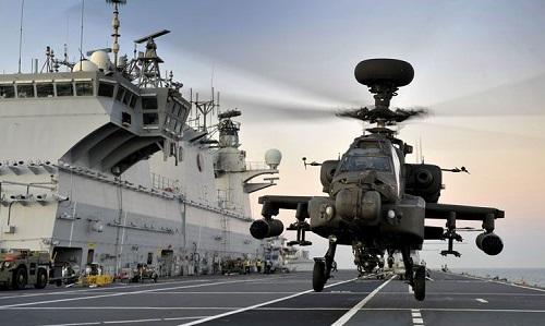 Mộ trực thăng tấn công của không quân Anh. Ảnh: Military.