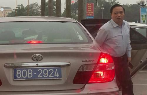 Chiếc Camry có thời điểm lại được gắnbiển số 80B-2924 trong một lần phục vụ lãnh đạo Tỉnh ủy Ninh Bình. Ảnh:M.Hải.