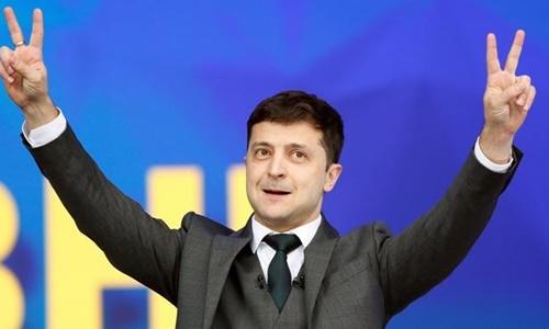 Danh hài Volodymyr Zelensky, người có khả năng cao trở thành tân tổng thống Ukraine. Ảnh: Reuters.