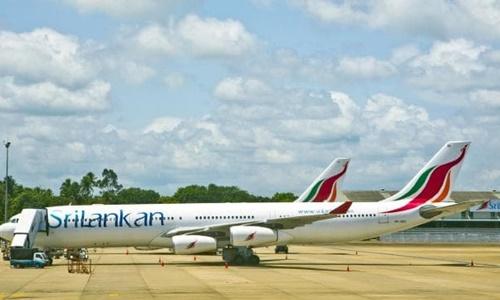 Máy bay đỗ tại sân bay quốc tế Bandaranaike ở thủ đô Colombo, Sri Lanka. Ảnh: SMH.