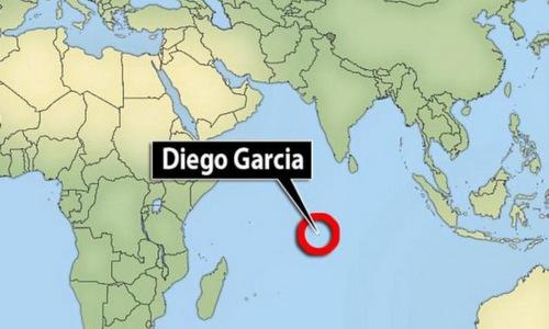 Vị trí đảo Diego Garcia trên Ấn Độ Dương. Đồ họa: IFG.