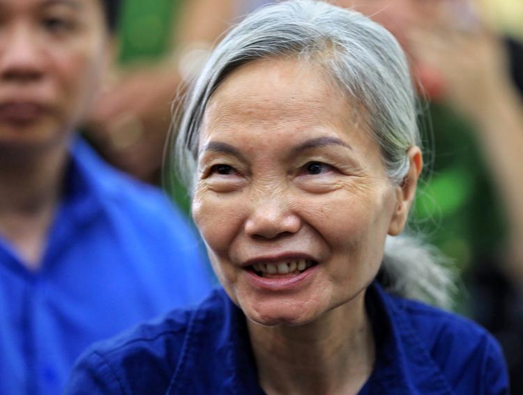Nguyên phó tổng giám đốc DAB Nguyễn Thị Kim Xuyến. Ảnh: Hữu Khoa.