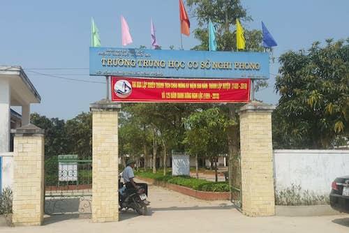Trường THCS Nghi Phong. Ảnh: Nguyễn Hải.