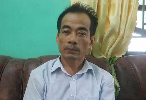 Ông Nguyễn Hữu Thọ - Hiệu trưởng THCS Nghi Phong. Ảnh: Nguyễn Hải.