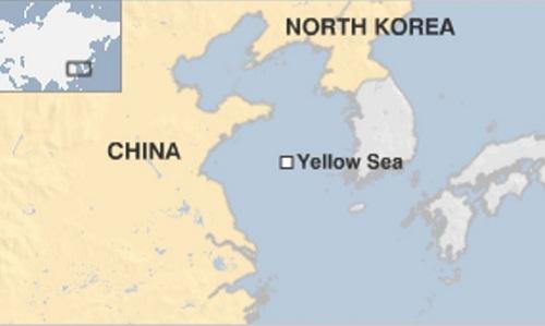 Vị trí biển Hoàng Hải (Yellow Sea). Đồ họa: BBC.