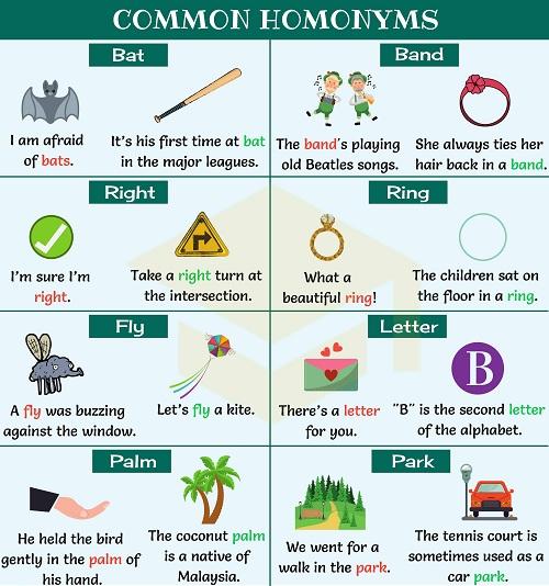 Những từ đa nghĩa phổ biến trong tiếng Anh