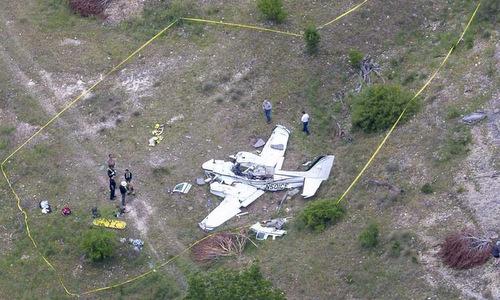 Hiện trường tai nạn hôm 22/4. Ảnh: Houston Chronicle.