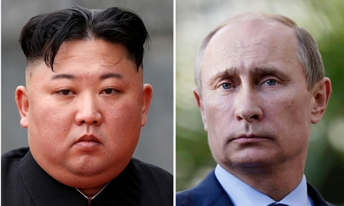 Lãnh đạo Triều Tiên Kim Jong-un (trái) và Tổng thống Nga Putin. Ảnh: Reuters.