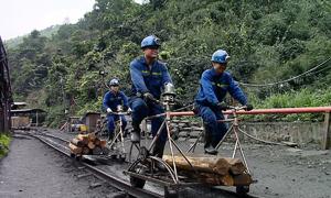 Xe đạp dành riêng cho thợ mỏ ở Quảng Ninh