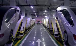 Bãi đỗ xe nghiêng 30 độ tại Trung Quốc