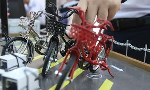 Mô hình giữ xe bằng khóa vân tay của học sinh Khánh Hòa