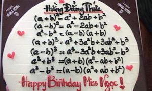 Những chiếc bánh sinh nhật của học trò khiến thầy cô hoa mắt