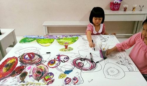Bé được thể hiện sự sáng tạo trong các môn nghệ thuật.