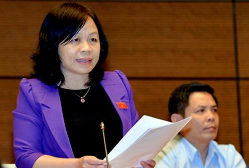 Đại biểu Nguyễn Thị Mai Hoa. Ảnh: Trung tâm báo chí Quốc hội