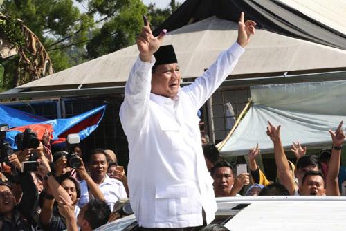 Ứng viên tổng thống Prabowo Subianto. Ảnh: AP.
