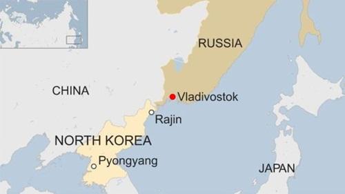 Vị trí của Vladivostok. Đồ họa: BBC.
