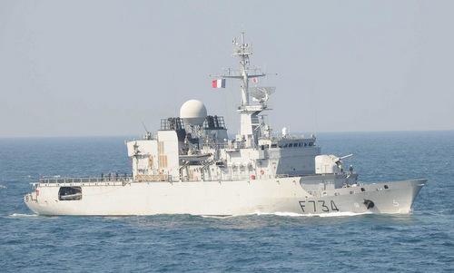 Tàu hộ vệ Vendemiaire hoạt động trên Thái Bình Dương năm 2018. Ảnh: Wikipedia.