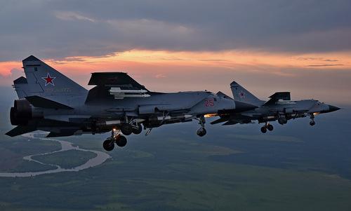Một biên đội MiG-31 Nga bay huấn luyện năm 2018. Ảnh: Russian Planes.