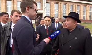 Kim Jong-un lần đầu trả lời báo chí Nga