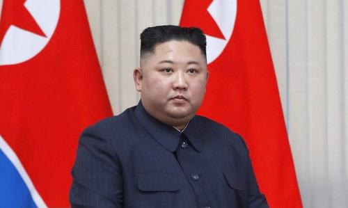 Lãnh đạo Triều Tiên trong cuộc gặp Tổng thống Nga hôm 25/4. Ảnh: AFP.