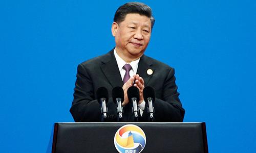 Chủ tịch Trung Quốc Tập Cận Bình phát biểu tại diễn đàn Vành đai và Con đường tại thủ đô Bắc Kinh, Trung Quốc. Ảnh: NDTV.