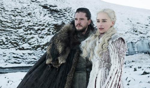 Hai nhân vật chính trong phim Game of Thrones. Ảnh: AP.