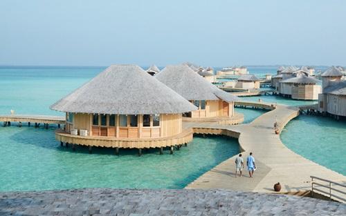 Một khu nghỉ dưỡng tại quốc đảo Maldives ở Nam Á. Ảnh: Travel and Leisure.