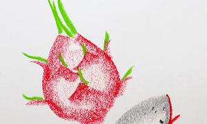 Cách vẽ củ quả đẹp mắt nhờ đặt nằm chiếc bút sáp màu