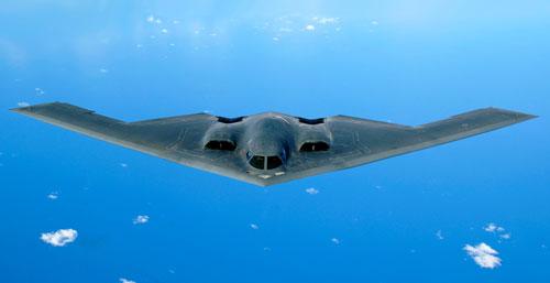 Oanh tạc cơ tàng hình B-2 Spirit của không quân Mỹ. Ảnh: USAF.