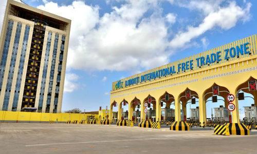 Khu thương mại tự do quốc tế Djibouti (DIFTZ) trong lễ khánh thành ngày 9/12/2018. Ảnh: Tân Hoa Xã