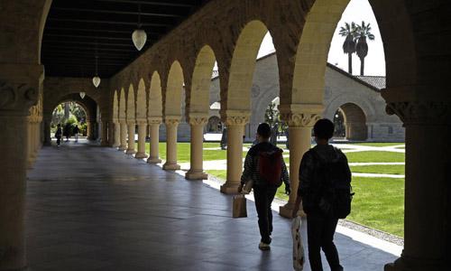 Khuôn viên Đại học Stanford, bang California, Mỹ. Ảnh: AP.