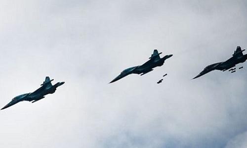 Máy bay chiến đấu Nga hoạt động ở Syria hồi năm 2018. Ảnh: Almasdar News.