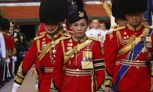 Suthida tại một sự kiện của hoàng gia Thái Lan năm 2016. Ảnh: BBC.