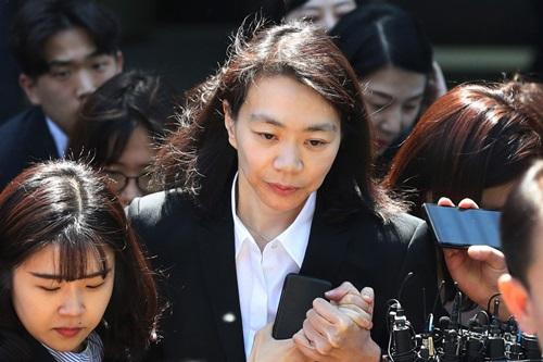 Cho Hyun-ah, cựu phó chủ tịch Korean Air. Ảnh: AP.