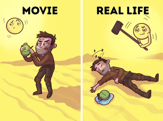 Những mẹo sinh tồn trên phim không cứu sống bạn ngoài đời thực