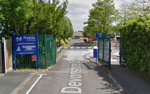 Trường trung học cơ sởRavensdale (Derbyshire, Anh), nơi hai con củaKatrina Dakin đang theo học. Ảnh:Derby Telegreaph WS