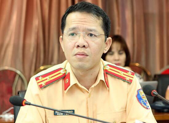 Thượng tá Nguyễn Quang Nhật - Phó trưởng phòng Tuyên truyền và phổ biến pháp luật (Cục Cảnh sát giao thông). Ảnh: Anh Duy