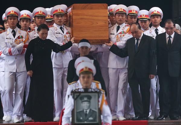 Lễ di quan Đại tướng Lê Đức Anh. Ảnh: Giang Huy