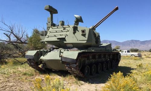 Xe chiến đấu M247 với nòng pháo nâng cao. Ảnh: Wikipedia.