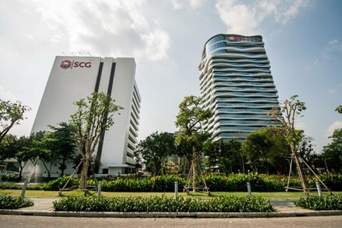 Trụ sở của  tập đoàn xi măng lớn nhất Thái Lan Siam Cement Group (SCG) tại Bangkok. Quốc vương Vajiralongkorn nắm giữ 33% cổ phần của tập đoàn SCG. Ảnh: Asian-links.com.