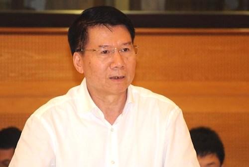 Thứ trưởng Y tế Trương Quốc Cường tại buổi họp báo Chính phủ thường kỳ chiều 4/5. Ảnh: Viết Tuân
