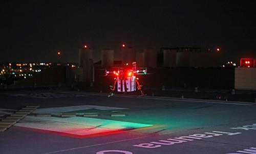 Drone vận chuyển thận cấy ghép tới bệnh viện ở  Baltimore, Mỹ. Ảnh: AFP.
