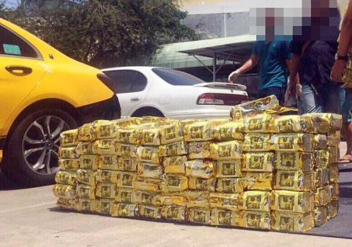 Thời gian gần đây, Công an TP HCM liên tục phát hiện nhiều vụ vận chuyển ma túy với số lượng lớnlên đến hàng tấn. Ảnh: Công an cung cấp