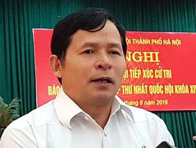 Ông Bạch Công Tiến, Chủ tịch UBND huyện Ba Vì.
