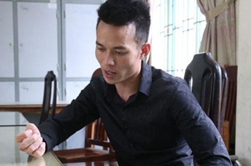 Trần Văn Trường khi bị bắt giữ. Ảnh: M. Hiền.