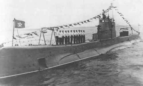 Tàu ngầm Shch-302 trước khi bị chìm. Ảnh: Sputnik.