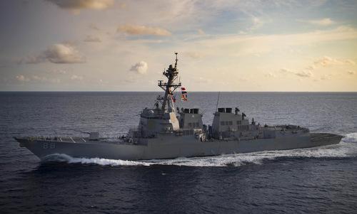 USS Preble di chuyển trên Biển Đông hồi đầu năm 2019. Ảnh: US Navy.
