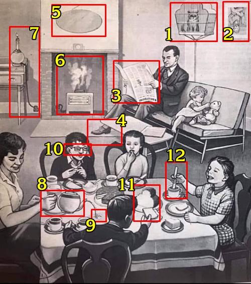 Tìm 12 điểm sai trong bức tranh hơn 50 tuổi này - page 2
