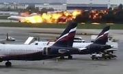 Máy bay Nga nảy 'như châu chấu' trước khi bốc cháy
